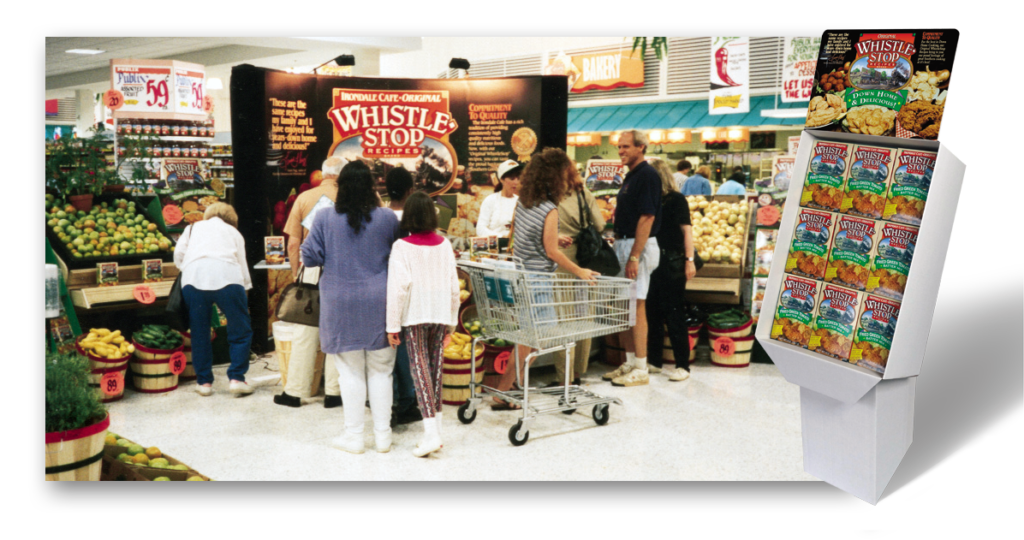 WhistleStop Store Display with Shipper